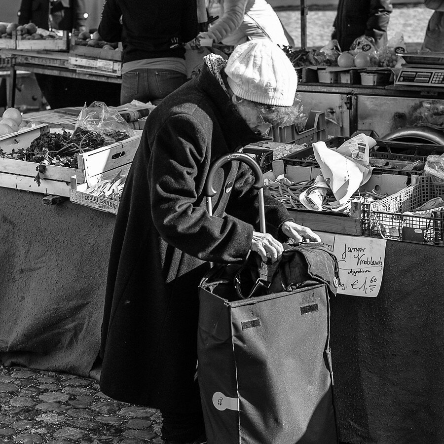 Woman on the market